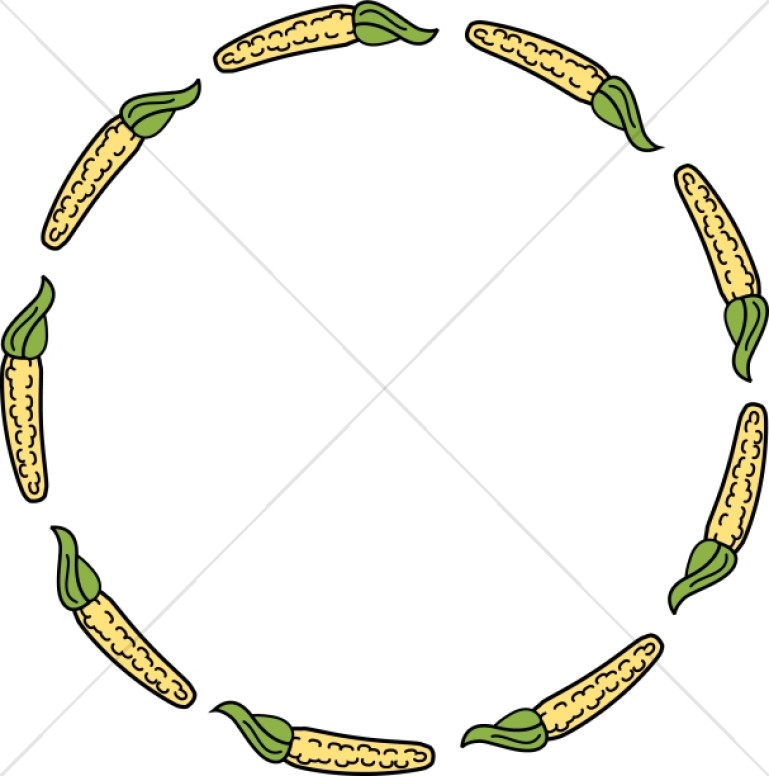 Corn on the Cob Round Border