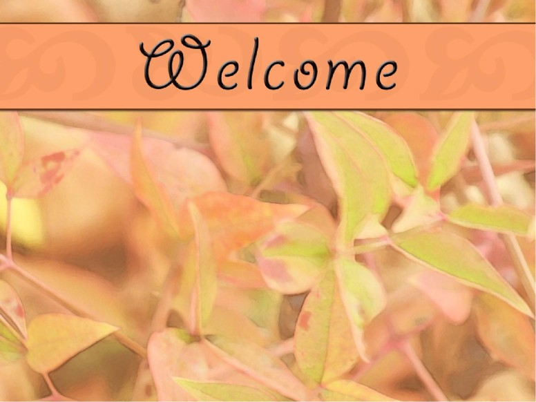 Fall Welcome Graphic