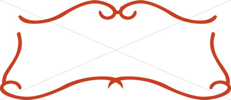 Simple Red Scroll Frame