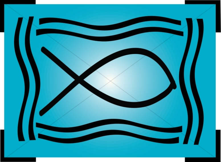 Christian Fish Clipart in Blue