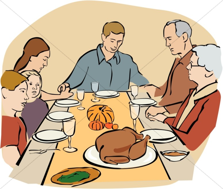 Thanksgiving Prayer Clipart