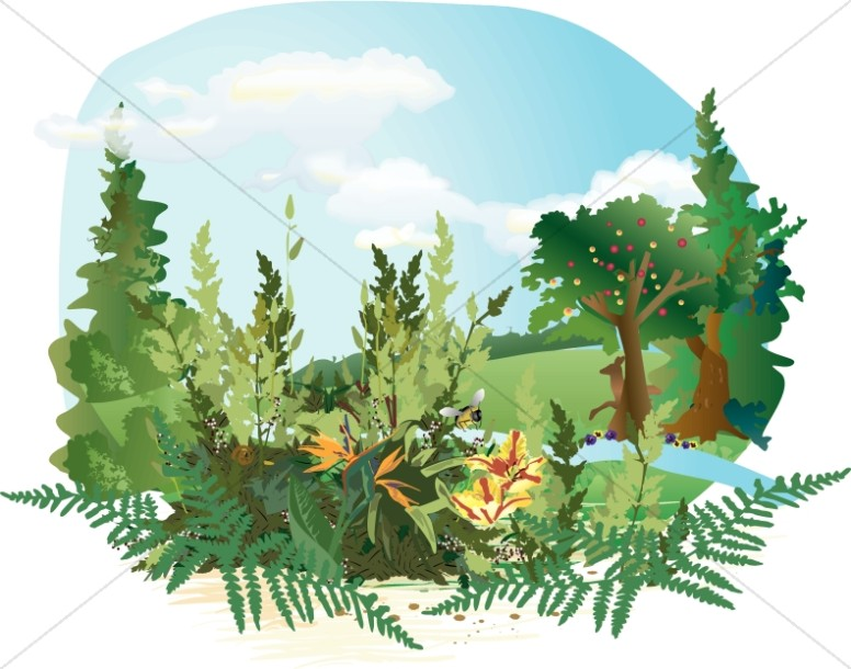 Garden of Eden Clipart