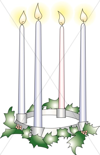 Advent Candles Clipart