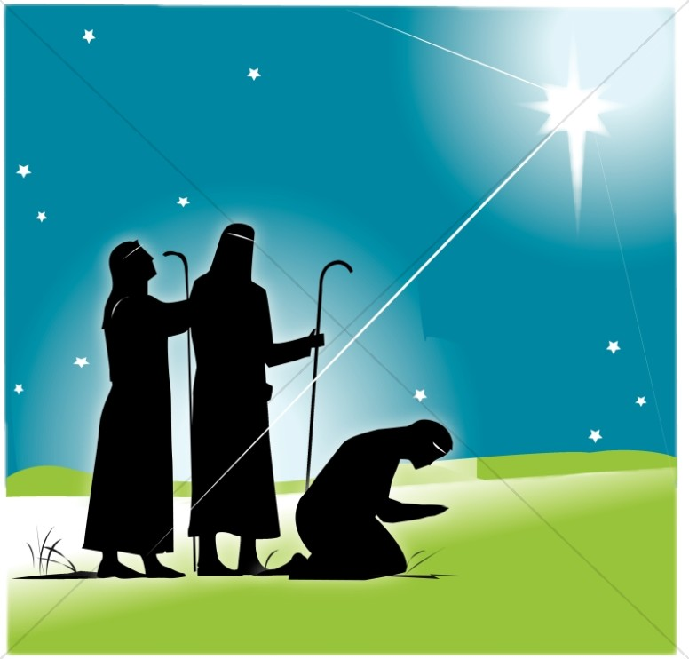 Wise Men and the Star Clipart