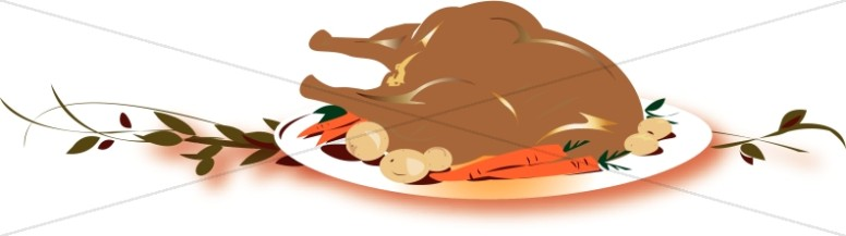 Turkey Platter Clipart