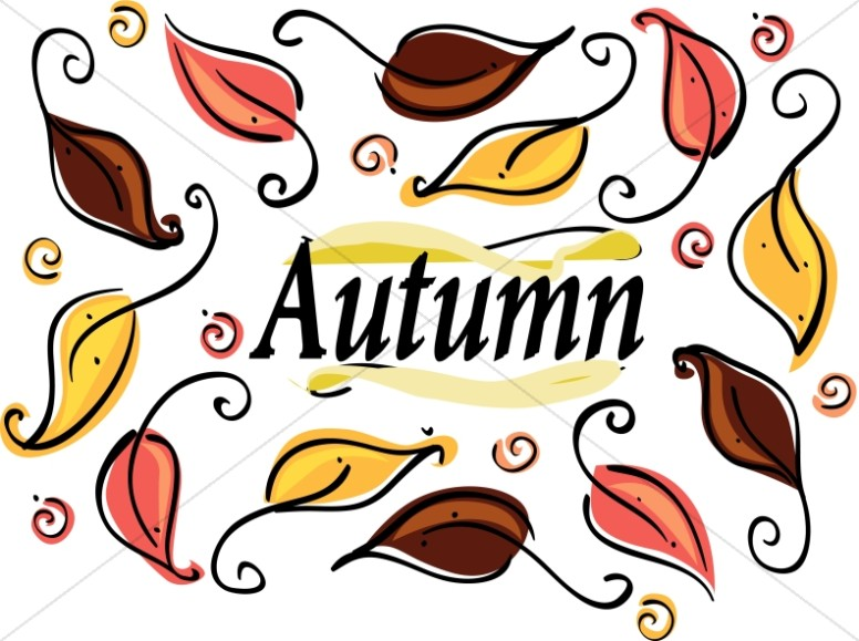 Many Autumn Leaves Clipart