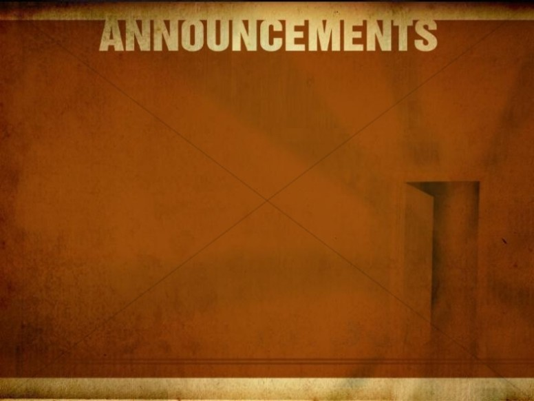 Announcements Worship Service Background