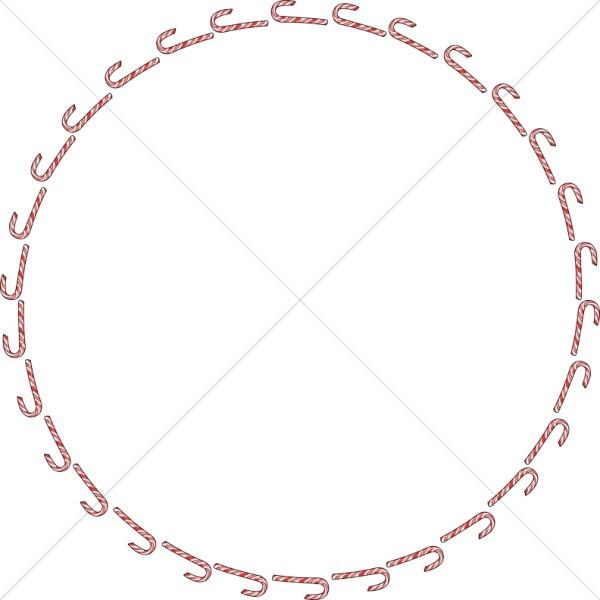 Candy Cane Circular Border
