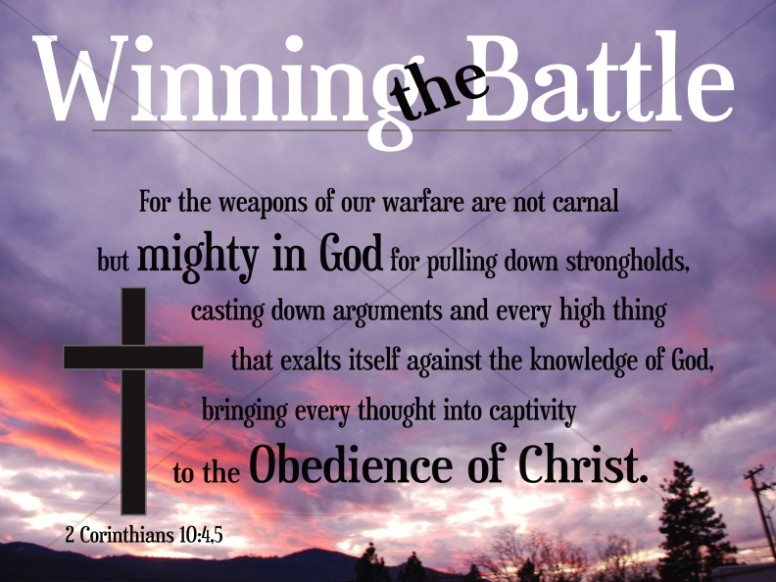 Winning the Battle Christian Background