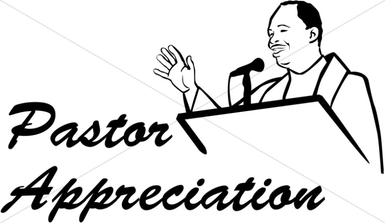 Pastor Appreciation in Black and White