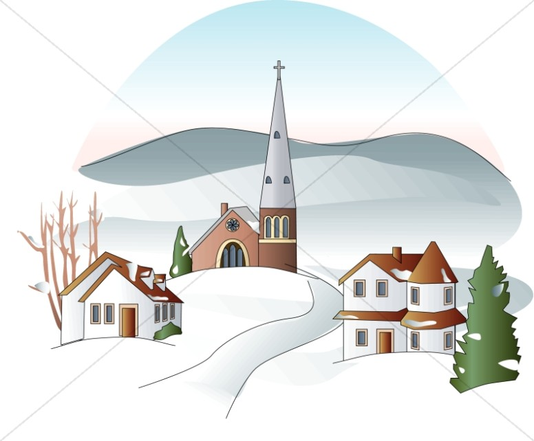 Winter Town Clipart