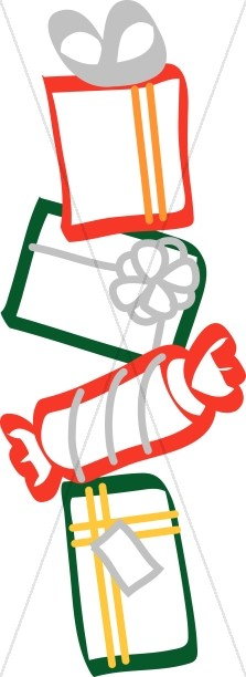 Stack of Wrapped Presents Clipart