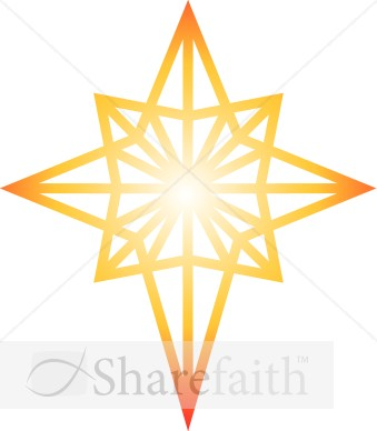 glowing star of bethlehem clipart epiphany clipart