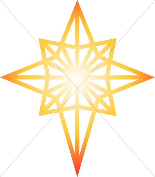 Glowing Star of Bethlehem Clipart