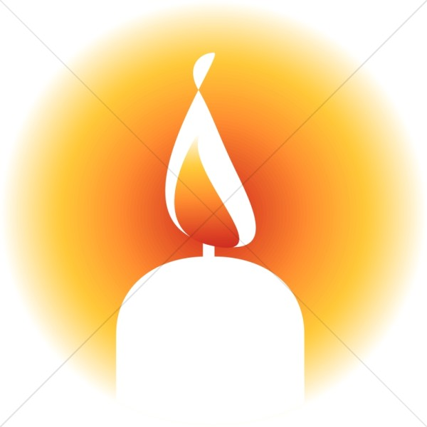 Brightly Lit Candle Clipart