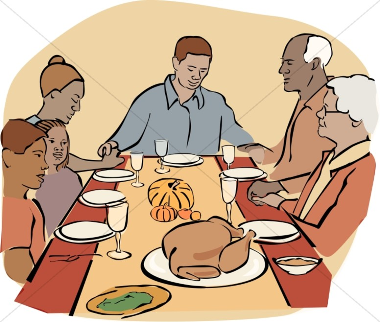 African American Family At Thanksgiving