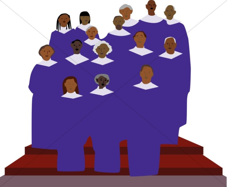 African American Gospel Singers Clipart | Church Choir Clipart