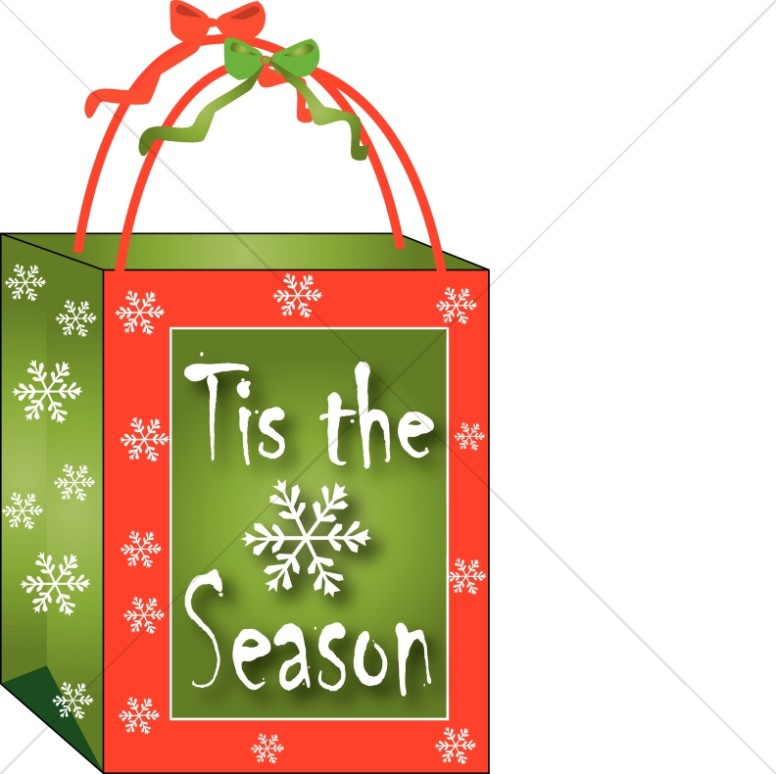 Christmas Gift Bag Clipart