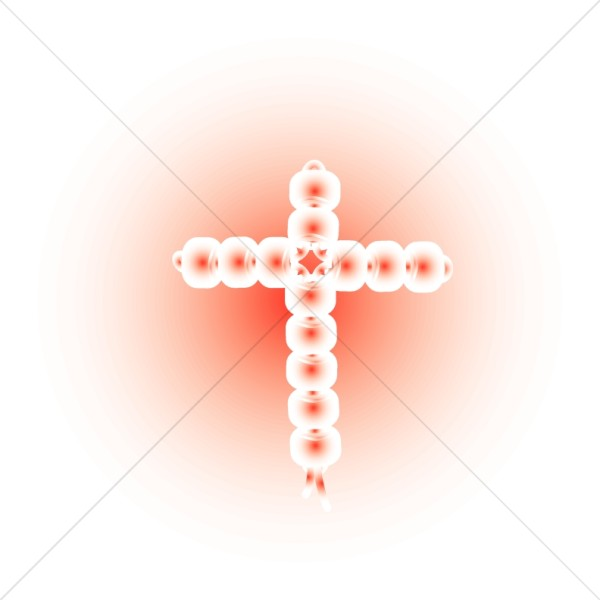 Cross in Shades of Red