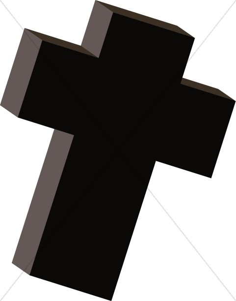 Thick Black Cross Clipart