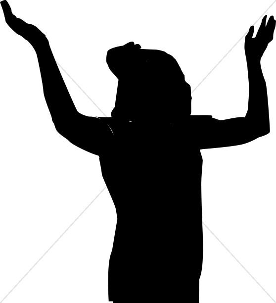 Female Praising Silhouette