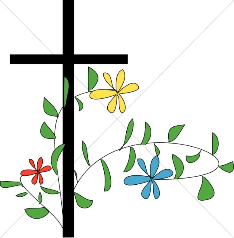 Flowery Cross Clipart