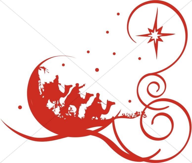 Decorative Red Epiphany Clipart