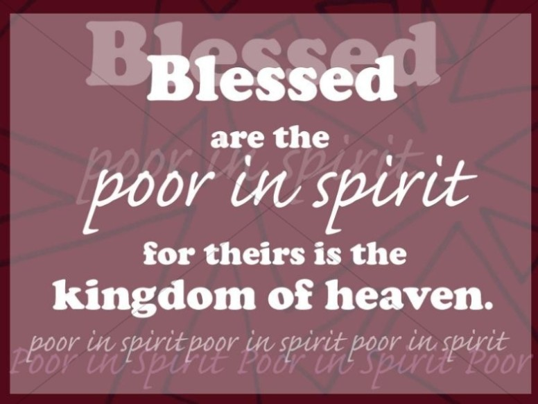 Blessed the Poor in Spirit
