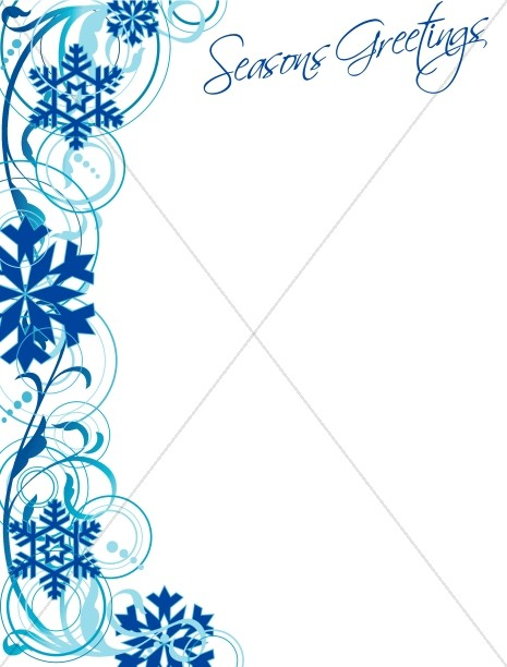 Snowflake Border and Seasons Greetings