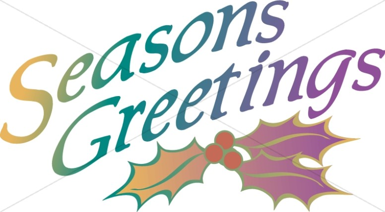 seasons greetings with holly christian christmas word art rh sharefaith com free seasons greetings clipart images seasons greetings clipart free