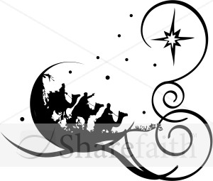 whimsical wise men religious christmas clipart rh sharefaith com From Jesus Wise Men Gifts Christian Clip Art Wise Men