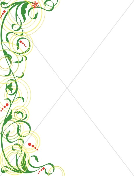Whimsical Swirls Religious Border