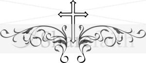 decorative black cross cross clipart - Decorative Cross