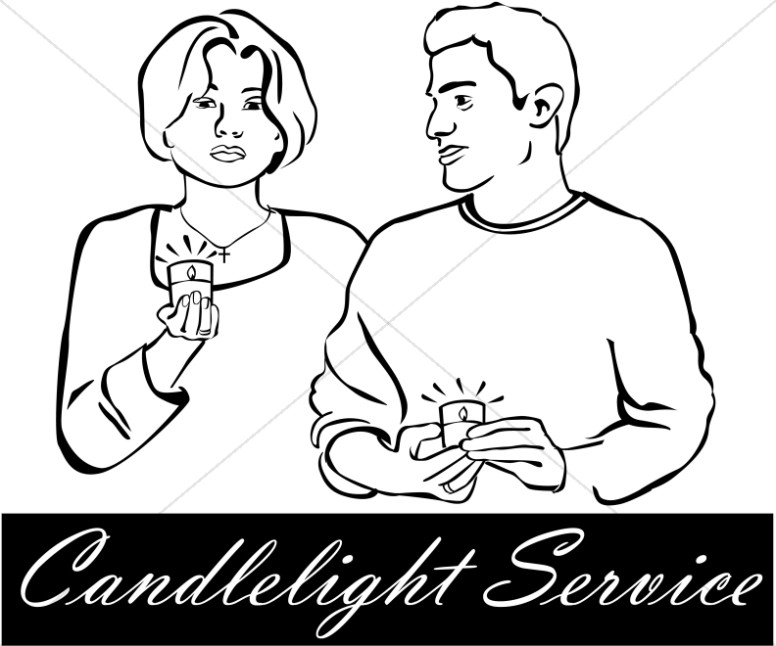 Candlelight Service Clipart
