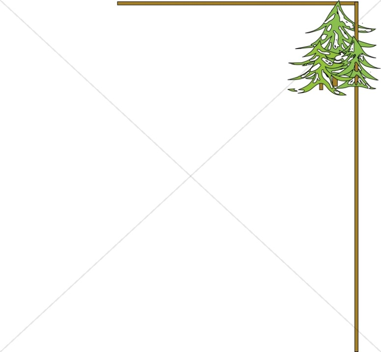 Christmas Tree Winter Border