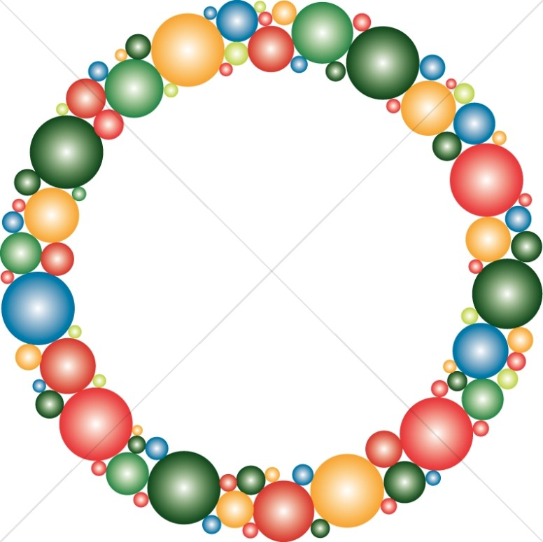 Shining Circles Wreath