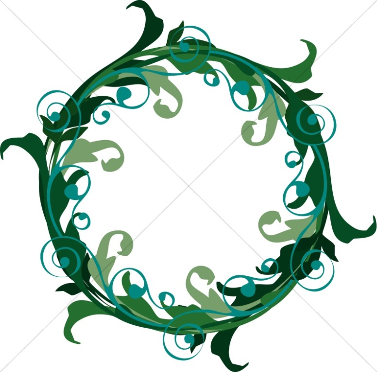 Green Ornate Wreath