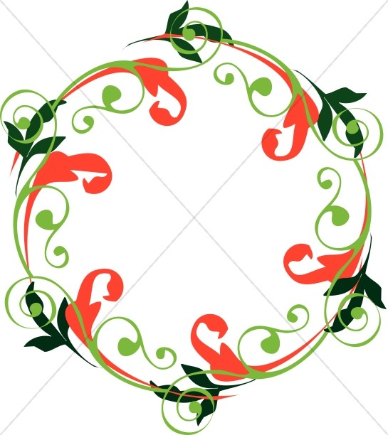 Chistmas Swirls Wreath