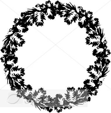 Black And White Pine Wreath