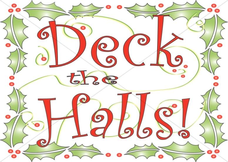 deck the halls clipart - Christian Christmas Sayings
