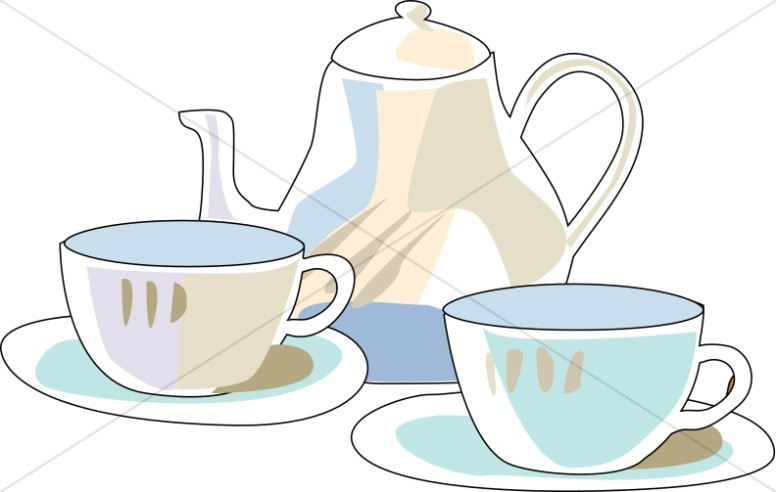 Morning Tea Tray | Tea Time Clipart