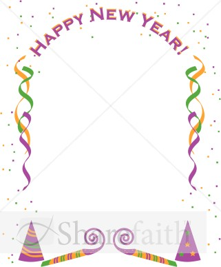 new year party border christian new years borders
