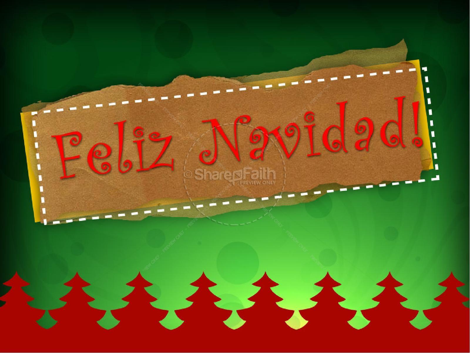 Feliz Navidad Spanish PowerPoint   slide 1