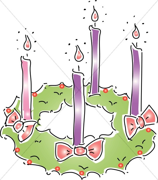 Advent Wreath Christmas Clipart Advent Clipart