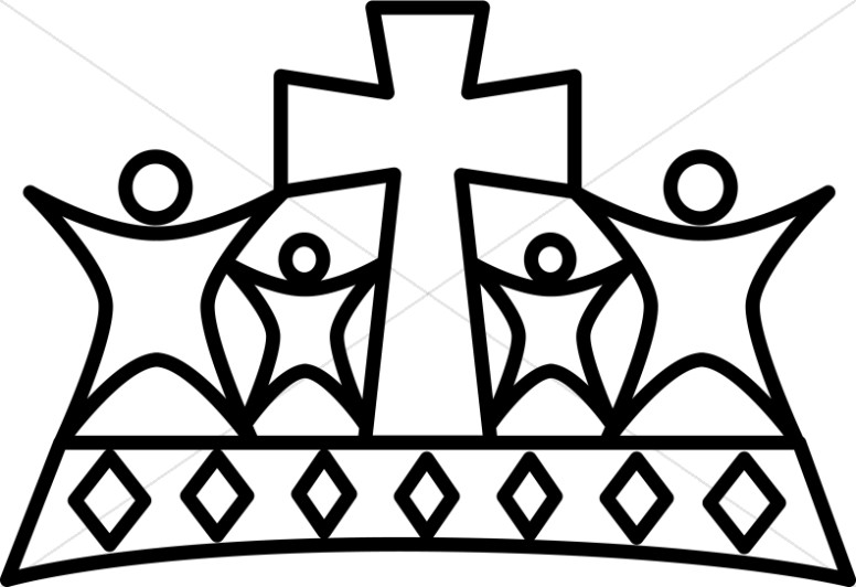 Black and White People Crown