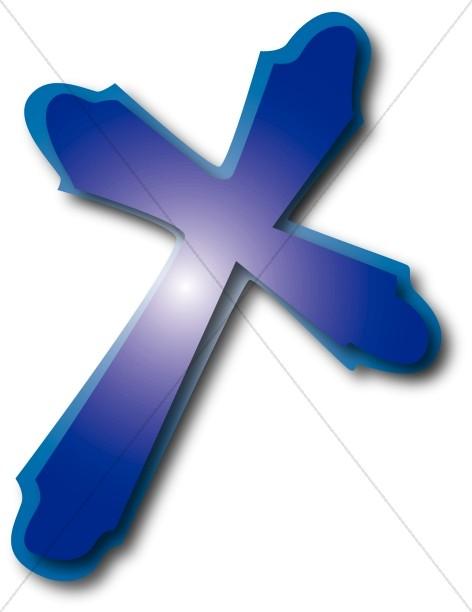 Purple Cross Graphic | Cross Clipart
