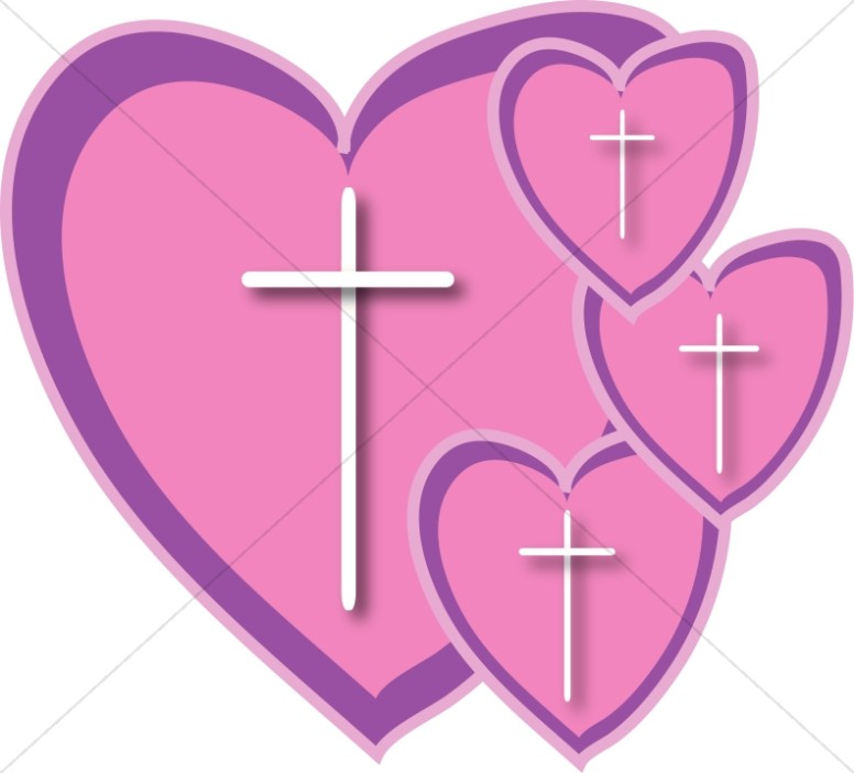 free cross and heart clipart - photo #12