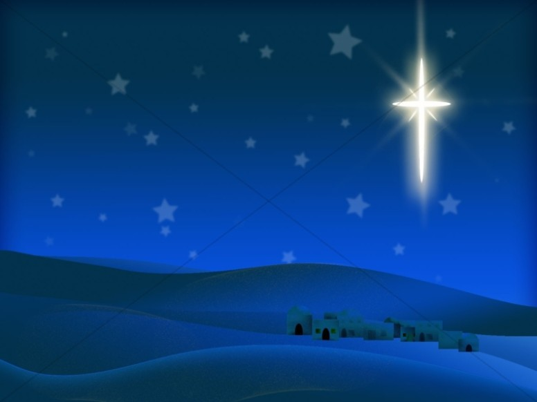 Nighttime In Bethlehem Worship Backgrounds