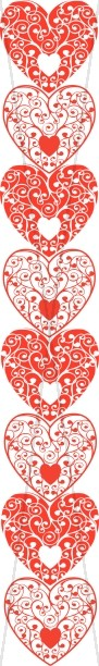 Red and White Hearts Page Divider