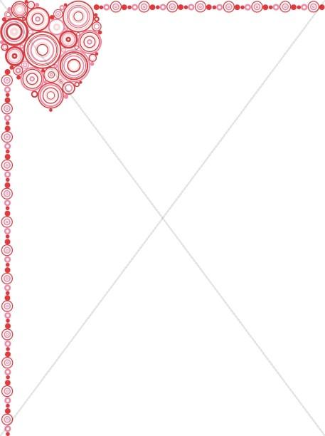 Polke Dot Heart Border